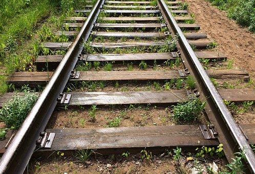 Rails, Railway, Old, The Way, Sleepers, Straight