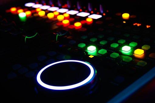 Mixer, Light, Sound, Music, Spotlight, Plant