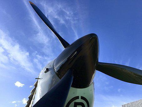 Spitfire, Wwii, Fighter, Airplane, Aircraft, Military