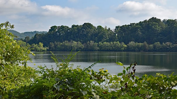 Melton Lake On Hazy Day, Clinch River, Tennessee