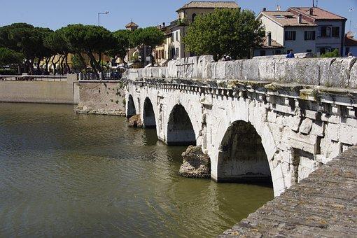 The Bridge Of Tiberius, Ponte Di Tiberio, Italy, Rimini