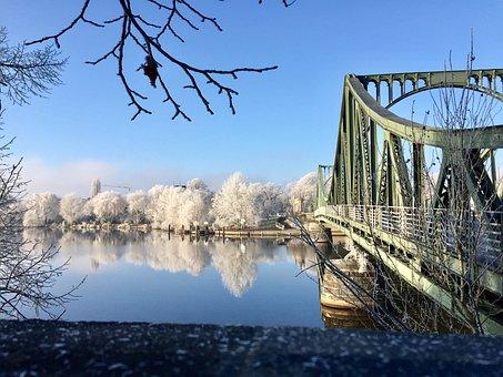 Winter, Glienicke, Bridge, Potsdam, Berlin