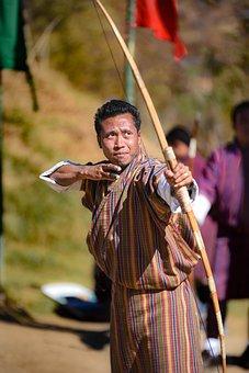 Bhutan, Archery, Tradition, Culture, Traditional, Arrow