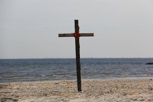 Randzelgat, Sea, Beach, Cross, Sky, By The Sea, Water