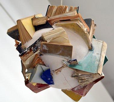 Books, Mess, Chaos, Book, Art, Art Installation