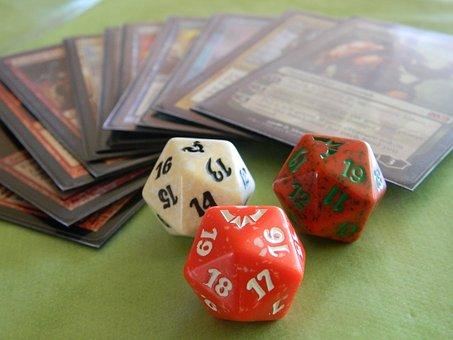 Cubes, Magic, Game, Cards, Dvadsaťstenka, Figures
