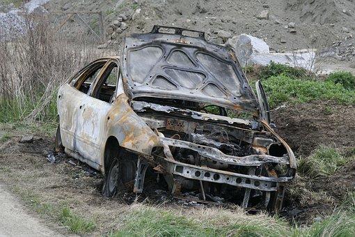Car After Fire, Vehicle, Rust, Danger, Destruction