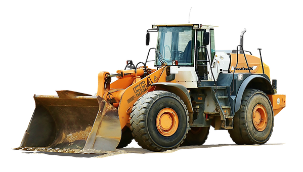 Isolated, Wheel Loader, Gravel Pits, Sand, Pebble