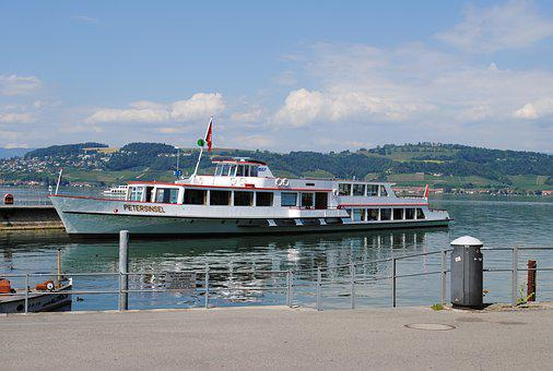Ship, Switzerland, Lake, Peter Island, Port, Boot