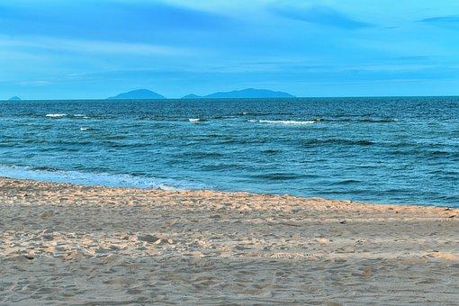 Blue Sea, Sand, Ocean, Water, Wave, Nature, Sky, Summer
