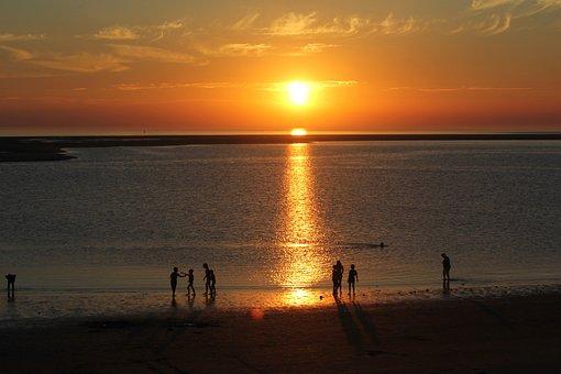 Borkum, Abendstimmung, Sunset, People Of The Sea