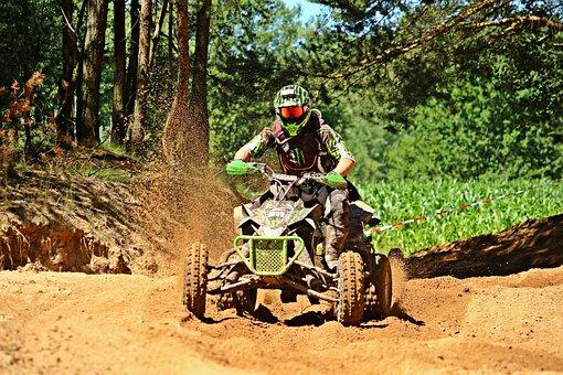Quad, Atv, Motocross Ride, Motocross, Motorcycle, Cross
