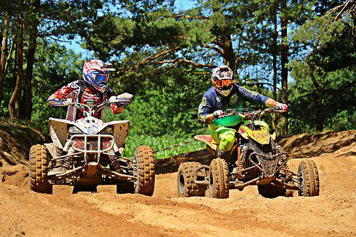 Quad Race, Atv, Quad, Motorsport, Motorcycle, Enduro