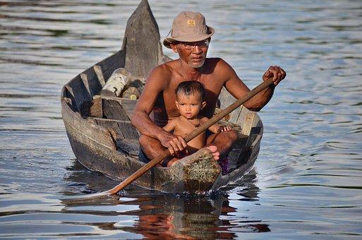 Cambodia, Travel, Tonle Sap, Cruise, Lake, River