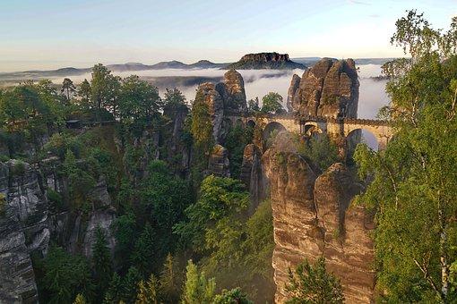 Bastei, Saxon Switzerland, Natural Beauties, Saxony