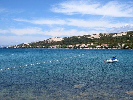 Panorama, Beach, Sea, Croatia, Water, Clear, Holiday