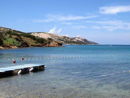 Panorama, Beach, Sea, Croatia, Water, Clear, Vacations