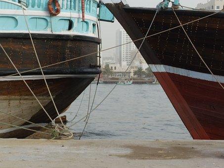Emirates, Sharjah, Sea, Ship, City, Arab, Gulf, Dubai