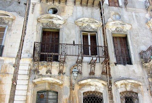 Sicilie, Palermo, Expiration, Facade, Old, Window
