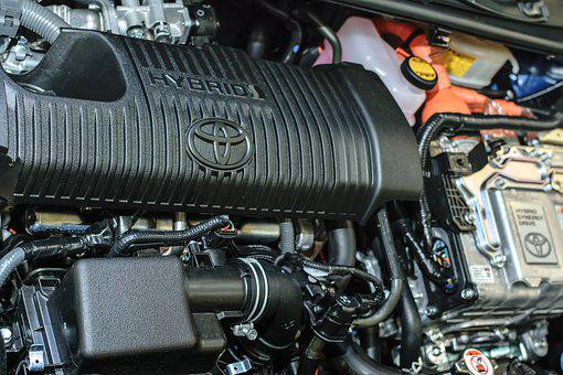Hybrid Car, Toyota, Engine, Technology, Electric, Car