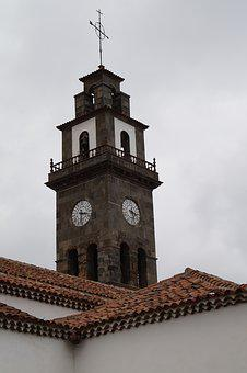 Steeple, Mediterranean, Tower, Clock Tower, Tenerife