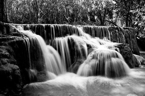 Waterfall, Viterbo, Lazio, Italy, Europe, Nature, Water