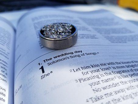 Wedding, Ring, Bible, Love, Marriage, Ceremony, Jewelry