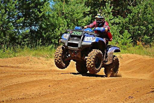 Atv, Quad, All-terrain Vehicle, Motorcycle, Motocross