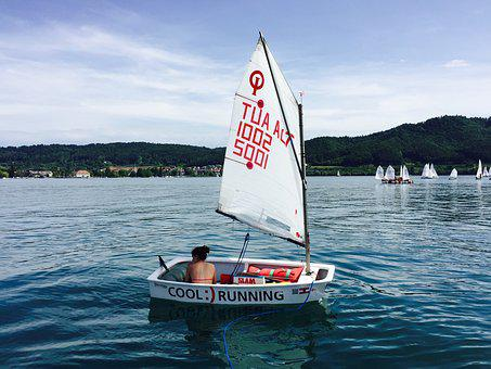 Opti, Regatta, Lake Constance, Sail, Sailing Boat, Boat