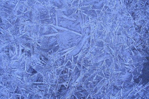 Ice, Eiskristalle, Winter, Blue, Frost, Close