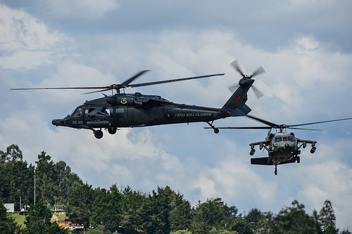 Colombian Air Force, Uh-60 Blackhawk, Helicopter