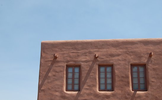 Construction, Particular, New Mexico, Windows, Wall