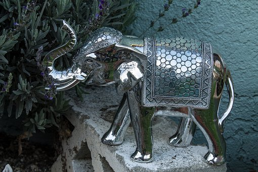 Elephant, Ornament, Decoration, Garden, Yard Decor