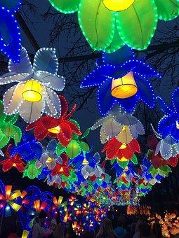 Lights, Chinese, Festival, Decoration, Creative, Night