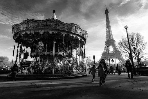 Paris, France, Eiffel Tower, Tourism, Merry Go Round