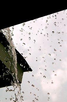Rain, Water Droplets, Frozen, Macro, Water, Drop
