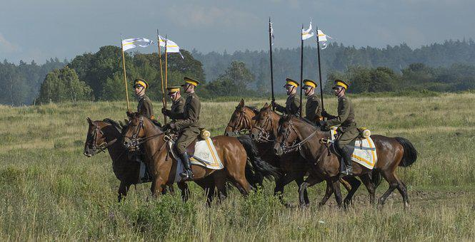 Horses, Cavalry, Soldier, Bridle, Bay, The Horse