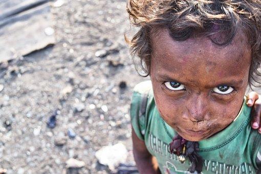 Poor, Slums, India, Boy, Face, Outdoor, Child, Kid