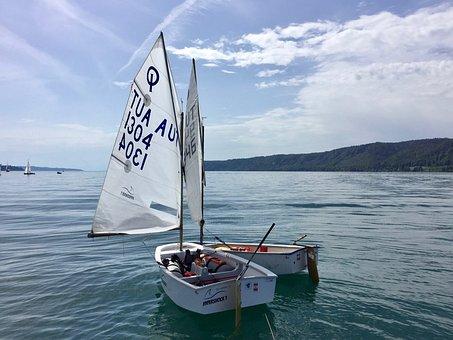 Opti, Regatta, Lake Constance, Sail, Sailing Boat, Boot