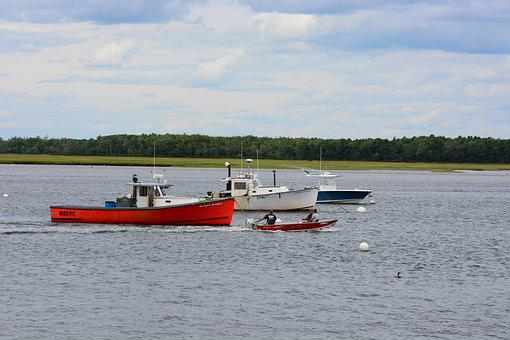 Utility Boats, Pine Point, Maine, Lobster Boat, Fishing