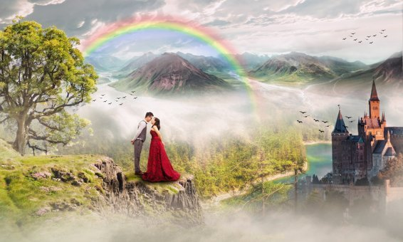 Wedding, Marriage, Day, Fancy, Colored, Month, Rainbow