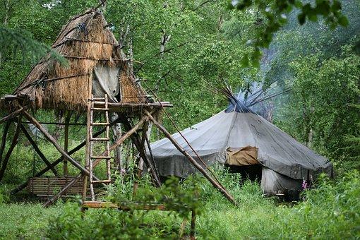 Camp, Labaz, Chum, National Dwelling Evens, Forest