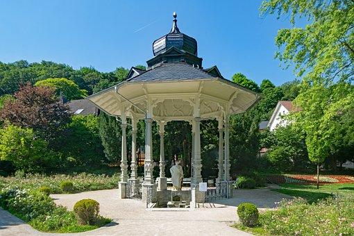 Bad Soden, Taunus, Hesse, Germany, Kurpark, Pavilion
