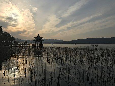 West Lake, Lotus, Pavilion