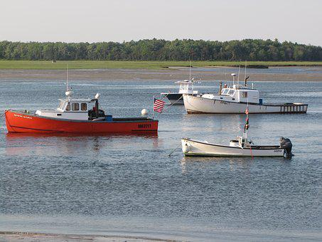 Lobster Boats, Pine Point, Maine, Boats, Utility Boats