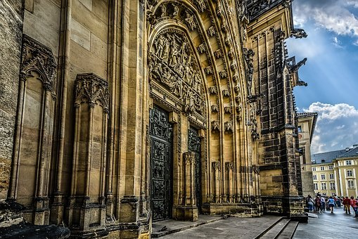 Vitus, Saint, St, Gothic, Door, Cathedral, Church, Holy