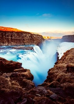 Iceland, Tourism, Waterfall, River, Mountains
