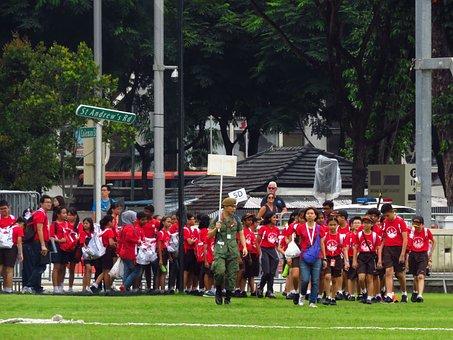 Children, School, Sports, Uniform, Education, People