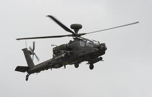 Ah-64d, Apache, Attack Helicopter, Helicopter, Flight