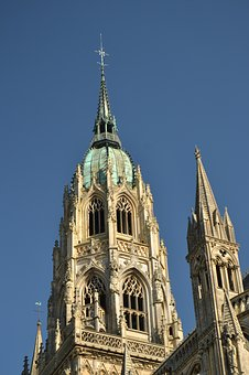 Bayeux, France, Cathedral, Notre Dame, Notredam, Church